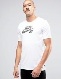 Белая футболка Nike SB Icon Seat Cover 844109-100 - Белый
