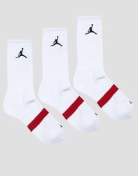 3 пары белых носков Nike Jordan Drifit SX5241-100 - Белый