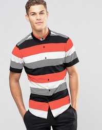 Рубашка классического кроя в разноцветную полоску ASOS - Мульти