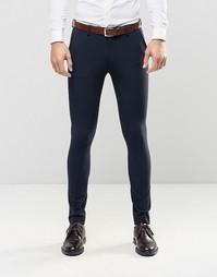 Темно-синие супероблегающие брюки ASOS - Темно-синий