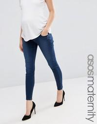 Джинсы скинни для беременных ASOS Maternity Ridley - Синий