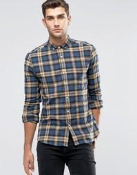 Облегающая рубашка с длинными рукавами в шотландскую клетку ASOS
