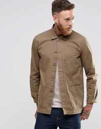 Рубашка навыпуск цвета хаки с длинными рукавами ASOS - Хаки