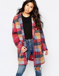 Oversize-пальто-кокон в клетку Native Youth - Мульти