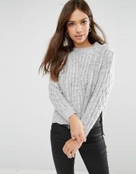 Длинный джемпер Glamorous - Серый меланж