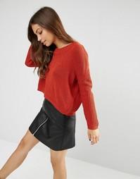 Джемпер с асимметричным краем Glamorous - Красно-бурый