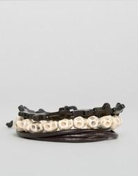 Набор браслетов ASOS - Черный