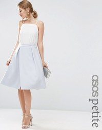 Юбка для выпускного с запахом ASOS PETITE - Blush