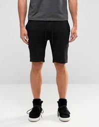 Черные шорты слим ASOS - Черный