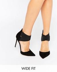 Туфли на каблуке для широкой стопы ASOS PEACHES - Черный