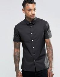 Серая рубашка скинни с короткими рукавами ASOS - Умеренный серый