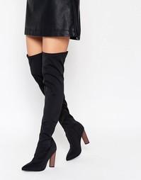 Ботфорты с контрастным каблуком Truffle Collection - Черный