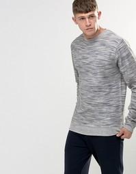 Меланжевый свитшот с изнаночной петлей Bellfield - Серый