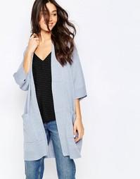 Синий вязаный кардиган-кимоно Vila Riva - Vila riva knitted ki