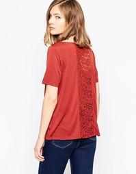 Рубашка цвета хны с кружевной вставкой на спинке JDY Kimmie - Красный