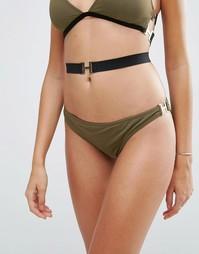 Бразильские плавки бикини с пряжками ASOS