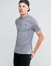 Фактурная футболка-поло ASOS - Синий