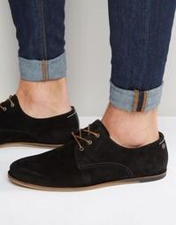 Замшевые туфли на шнуровке Jack & Jones - Черный