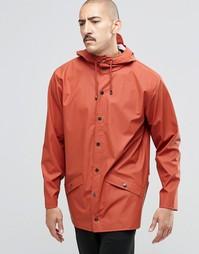 Короткая водонепроницаемая куртка Rains - Красно-бурый