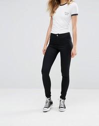 Супероблегающие джинсы с завышенной талией Noisy May Nena - Черный