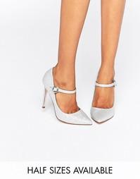 Туфли с острым носком ASOS PRIMA - Silver glitter