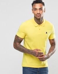 Желтая облегающая футболка‑поло из пике ASOS - Желтый