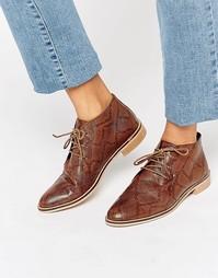 Кожаные туфли на плоской подошве ASOS MARLS - Snake