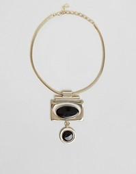 Броское ожерелье ар-деко Pilgrim - Золотой цвет