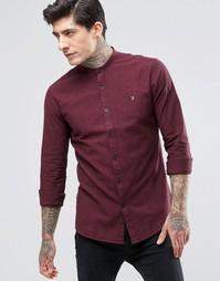 Строгая облегающая рубашка с пуговицами на воротнике Farah Oxford