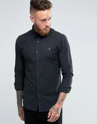 Темно-серая оксфордская рубашка слим Farah - Уголь