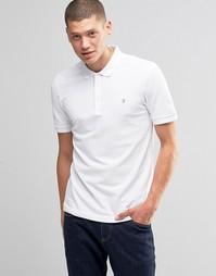 Белая футболка-поло классического кроя Farah - Белый