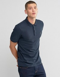 Темно-синяя футболка‑поло классического кроя Farah - Темно-синий