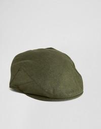 Плоская кепка цвета хаки ASOS Melton - Хаки
