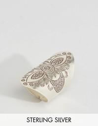 Серебряное кольцо с гравировкой Nylon - Серебро