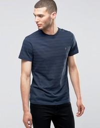 Темно-синяя футболка слим в горошек Farah - Темно-синий