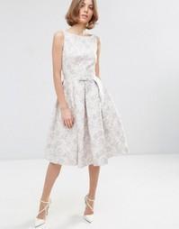 Жаккардовое платье миди для выпускного ASOS WEDDING - Мульти