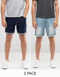 2 пары джинсовых шортов слим ASOS - СКИДКА 23%