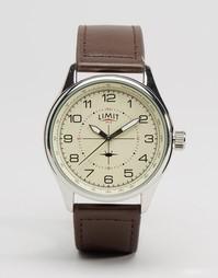 Часы с коричневым кожаным ремешком Limit Pilot - Коричневый