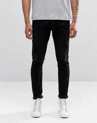 Черные джинсы скинни Diesel Tepphar 674N - Выбеленный черный