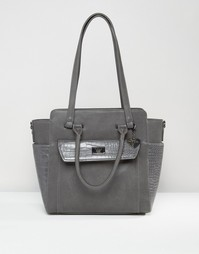 Marc B Structured Winged Tote Bag - Серый