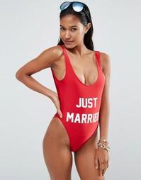 Слитный купальник Private Party Just Married - Красный