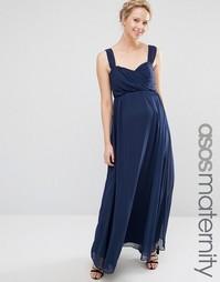 Шифоновое платье макси для беременных ASOS Maternity WEDDING