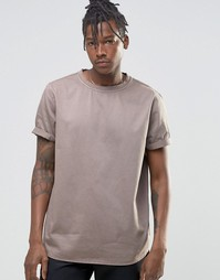 Плотная стираная футболка ASOS - Рыжий