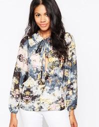 Блузка с бантом Love - Цветочный