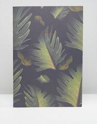 Блокнот формата A4 с принтом листьев Ohh Deer - Мульти