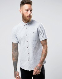 ASOS Regular Fit Oxford Shirt With Neps In Khaki - Хаки