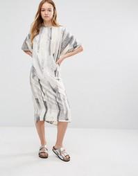 Свободное платье-туника миди Native Youth - Oatmeal