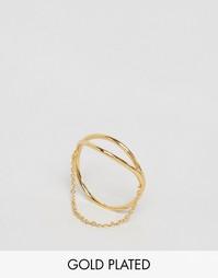 Кольцо с цепочкой Gorjana Remy - Золотой