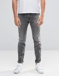 Сверхэластичные узкие джинсы Replay Anbass - Серый