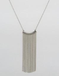 Фестивальное ожерелье с бахромой из цепочек Nylon - Серебряный